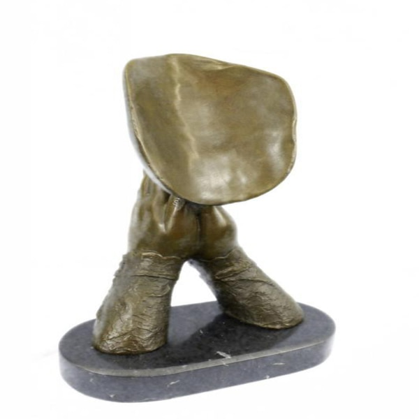 Amen Pray Bronze Sculpture on Marble Base Statue (13X9 Inches) 4
