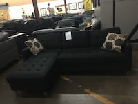 Reversible fabric sectional. Brand new. Colors: Black, grey and brown  Grand Prairie, 75050