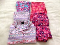 1 Set of pyjama + 3 pyjamas all in excellent  conditions all $10.    Size 7-8 Hamilton, L8V 4K6