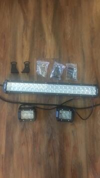 New LED light bar and 2 4 inch lights .. with bracket and hardware  Lynden, 98264