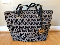 Black and Tan michael kors monogram tote bag and wallet Centreville, 20121