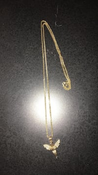 Real gold 10k necklace and angel pendant Toronto, M6G