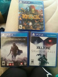 three assorted PS4 games Clovis, 88101