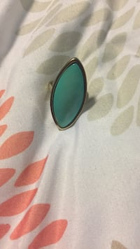 teal gem stone stud silver-colored cabochon ring Atascadero, 93422