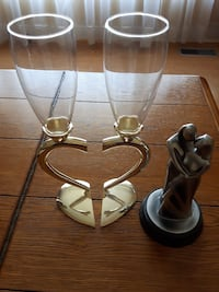 Bride & Groom glasses and statue  Saint Thomas, N5P 2M4