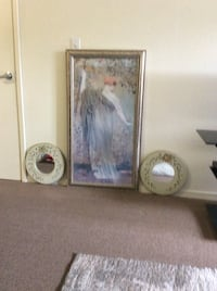 Wooden framed wall art and two side mirrors Fremont, 94555