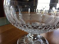"""Waterford crystal """"Colleen"""" pattern large bowl with pedestal"""