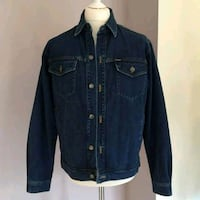 black denim button up jacket Dudley, DY1