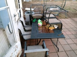 7 piece patio table and chair set