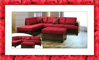 Red sectional free ottoman and delivery Falls Church, 22041