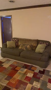 Couch with matching oversized chair
