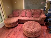 Sofa set-sectional/3 seats/foldable bed/pillows/ottoman