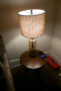 brown and white table lamp 319 mi