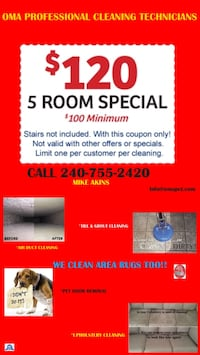 Carpet cleaning!!!!! OMA Professional Cleaning Technicians  Washington, 20009