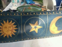 blue n gold sun n moon chair railing paper Augusta, 30906
