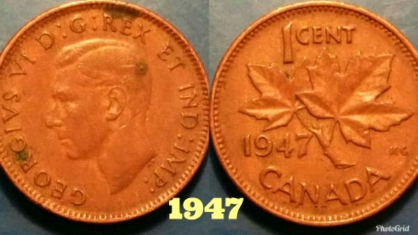 1947 Canadian penny