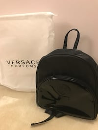 black Versace leather knapsack Richmond, V6Y 1L7