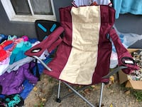 White and red camping chair Brentwood, 20722
