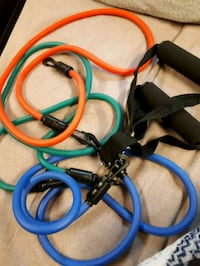 Set of Resistance bands with grips Calgary, T2W 1X9