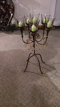 Black metal candle holder stand