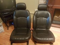 Black leather heated power seats for a 2000 and up