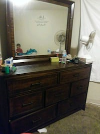 brown wooden dresser with mirror St. Louis, 63127