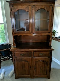 Brown real Wood China Cabinet Hutch Woodbridge, 22192
