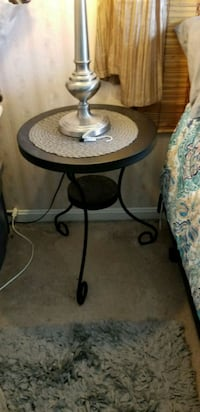 2 matching side tables. Black metal.   Can be used Centreville, 20121