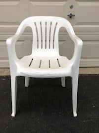 White Outdoor Plastic Chair Several Available $5 Each Manassas