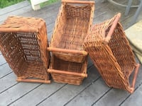 two brown wicker basket and two brown wicker baskets Washington, 20011