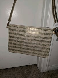 Gold striped purse NEVER USED