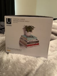 New Umbra Invisible Bookshelf Set of 3 (Silver) New York, 11215