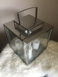 Candle Display, missing back glass panel, comes with battery candles. Brantford, N3R 4Z7