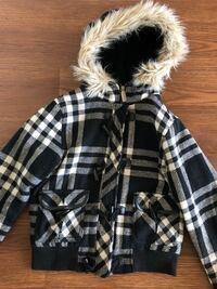 Black and white plaid winter coat London, N6C 5G2