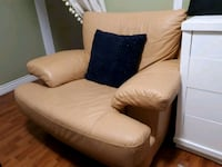 brown  leather sofa chair Burnaby, V3N 1R3