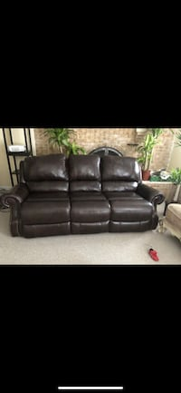 black leather 3-seat recliner sofa Silver Spring, 20904