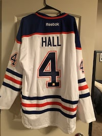 Taylor Hall Autographed Jersey in certificate of authenticity