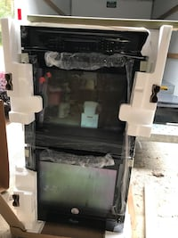 Black double electric wall oven and range top Augusta, 30909
