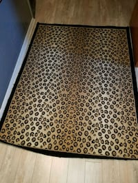 """brown and black leopard rug 64""""×48"""" Cheverly, 20785"""
