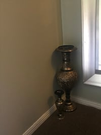 Brown and black vase BOTH for $20 Hamilton, L8T