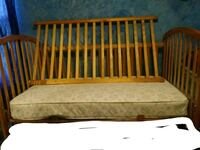 brown wooden crib with mattress Wyoming, 49509
