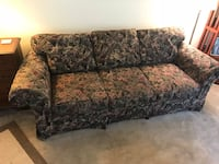 brown and gray floral fabric 2-seat sofa Silver Spring, 20905