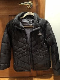 black zip-up bubble jacket Hickory Hills, 60457