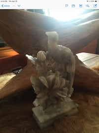 Antique.  White jade  approximately 6 inches tall this one has  no beak Woonsocket, 02895