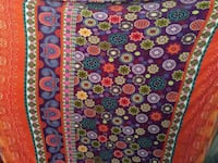 purple and orange floral textile Rishikesh