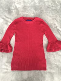 Aeropostale Red Bell Sleeve sweater size small 171 mi