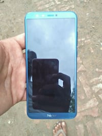 blue Samsung Galaxy android smartphone