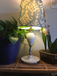 ORIGINAL SHADE with MILK GLASS Lamp*IF AD'S UP, IT'S STILL AVAILABLE