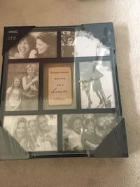 Black wooden collage photo frame