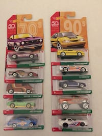 Hot Wheels Full Set of 10 Decades Throwback Series Oklahoma City